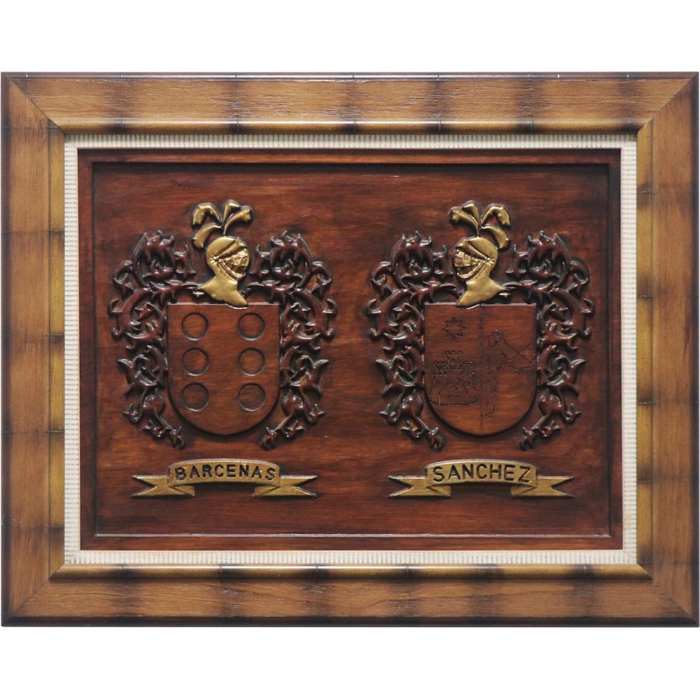 cuadro heráldico madera