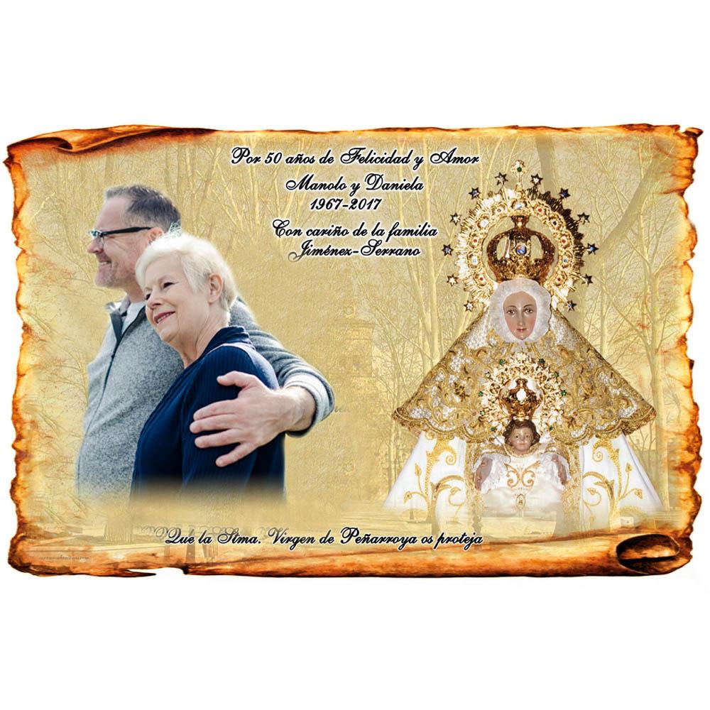 Placa bodas de oro